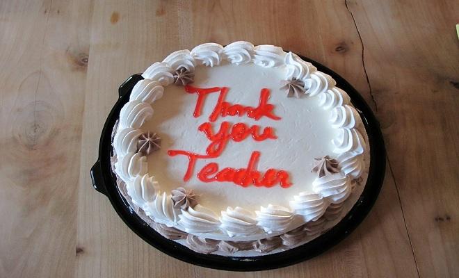 cake for teacher
